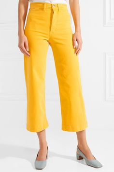 7bb6ae026c4 M.i.h Jeans - Caron cropped high-rise wide-leg jeans