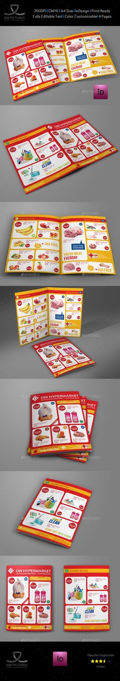 Supermarket Products Catalog Bi-Fold Brochure Vol.3 - Catalogs Brochures Download here : https://graphicriver.net/item/supermarket-products-catalog-bifold-brochure-vol3/19452372?s_rank=83&ref=Al-fatih