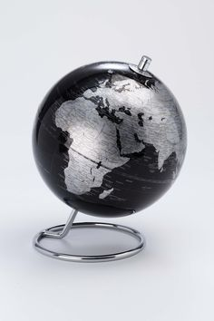 World Map Desk Globe by Authentics, the perfect gift for Explore more unique gifts in our curated marketplace. Desk Globe, Map Globe, Edgar Mitchell, World Time Zones, Selling Furniture, Discount Designer, Black House, Modern Contemporary, Different Colors