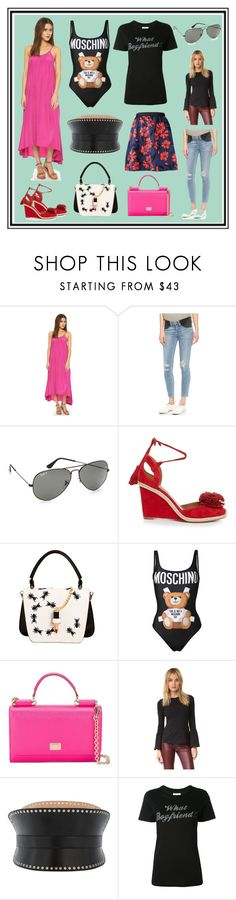 """Afternoon Offers"" by cate-jennifer ❤ liked on Polyvore featuring Pink Stitch, Citizens of Humanity, Ray-Ban, Aquazzura, Giancarlo Petriglia, Moschino, Dolce&Gabbana, Susana Monaco, Alexander McQueen and Zoe Karssen"