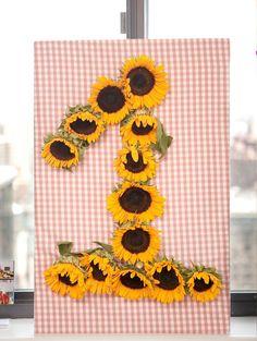 Sunflower Birthday Number