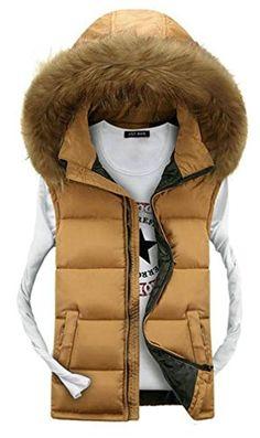 APTRO Men's Cotton-padded Faux Fur Hoodie Warm Vest Waistcoat Yellow UK L( Tag 3XL ) APTRO http://www.amazon.co.uk/dp/B015F1Q2KK/ref=cm_sw_r_pi_dp_2R7xwb0R1T421