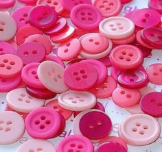 pink magenta buttons / 100 pieces assorted by schoollocker for $4.50