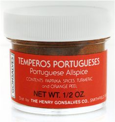 Temperos Portugueses Portuguese AllSpice 1/2 oz. | Allspice is most commonly used in desserts such as spice cakes, cookies, muffins and breads. Try a sprinkle in apple sauce, fruit compotes or fruit sauces.