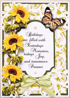 Sunflower Pop Up Book Card