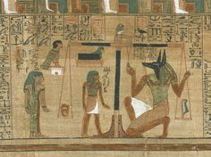 'Book of the Dead', Papyrus of Ani (sheet 3): Ani's Judgment: the scene is the…