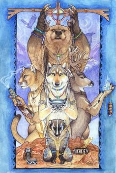 """HOW TO FIND YOUR ANIMAL TOTEM What is an Animal Totem? The phrase """"animal totem"""" literally means a symbolic representation of your animal guide; such as a crest, a totem pole, an emblem, a small fi… Spirit Animal Totem, Animal Spirit Guides, Find Your Spirit Animal, Bear Totem, Wolf Totem, Native Art, Native American Art, American Animals, American Indians"""