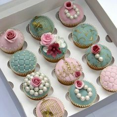 Cute cupcakes for a shower.