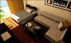 10畳部屋ワンルームマンションで男のモダンインテリアコーディネート|一人暮らしのワンルームインテリア