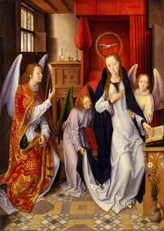 Annunciation by Hans Memling,1480-1489 (PD-art/old), The Metropolitan Museum of Art; from the collection of Michał Hieronim Radziwiłł