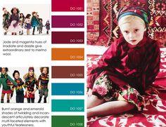 Kidsfashion trends fall winter f/w 2012 2013, color trends, print detail Kindermode trends winter 2012 2013 kleuren