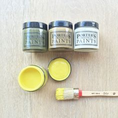 Putty? Porter's Paints Guerilla, Toffee Brittle, Whisk and a touch of Limetta 🍋