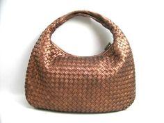 Auth BOTTEGA VENETA Shoulder Bag Bronze  #BottegaVeneta #ShoulderBag