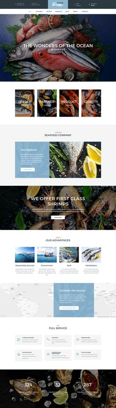 theme is supplied with a collection of powerful shortcodes and widgets, for easy use and capacity of your website. It is compatible with a bundle of premium plugins, like Revolution Slider, Visual Composer, Essential Grid, etc. In case you wish to sell products via your website, with our new theme you have a chance to open your online seafood store based on WooCommerce plugin and full shop design integration.