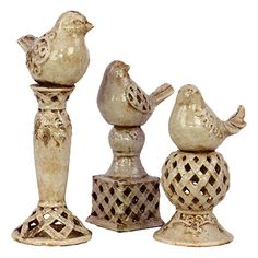 Annabelle Bird Finial Set