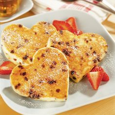 Heavenly Heart Shaped Pancakes