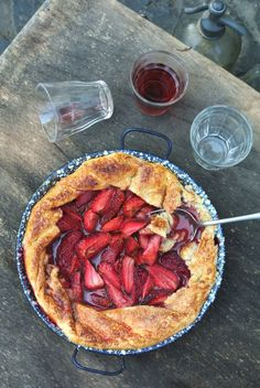 Strawberry Pie by Starving Chef ~ Anytime strawberry pie to celebrate spring.