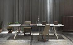 Flexform : Soffio dining table  http://www.studioitalia.co.nz/furniture/dining/dining-tables/soffio-4/