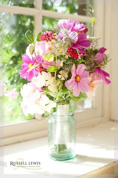 Beautiful Cosmos Bouquet at Walcot Hall from Blooms and Bees
