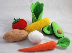 Vegetables Felt Food Patterns & Instructions