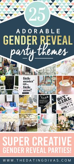 Super cute gender reveal party themes!!!  I totally want to do a gender reveal with the next baby- these are just too cute.