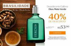 Compre na Rede Natura o Desodorante Colônia Ekos Mate Verde com 40% OFF.  Seleção Especial Brasilidade  Por tempo limitado! Aproveite Promoção válida de 05 a 11/set ou enquanto durarem os estoques.