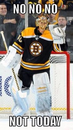 "Tuuka Rask. My favorite words to hear are, ""Save made by Rask!"""