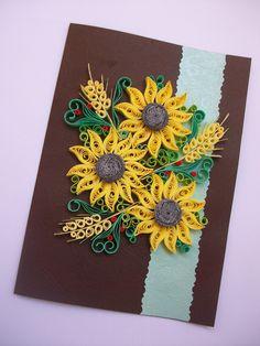 Birthday card, Quilling card, Quilling card, Quilled Birthday Card, Paper Quilling, Quilling Art Greeting Card de HandmadeTedy en Etsy