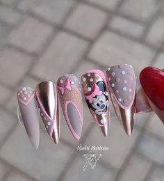 Goth Nails, Nude Nails, Mickey Nails, Best Acrylic Nails, Nail Arts, Nail Art Designs, Finger, Valentines, Art Drawings