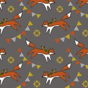 Foxes and banners - more fabric i need