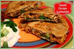Sweet Tea and Cornbread: Cheesy Chicken Quesadillas!