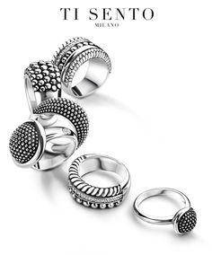 Fantastic Ti Sento Rings - available at Daniel Jewelers, Brewster New York