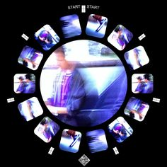 """""""There was no Time,"""" 2016. Experimental cell phone photography (manual and digital glitch; digital monotype) as View-Master reel. Ren Adams art. New media artwork."""