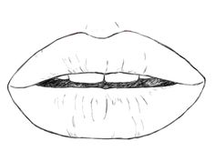 Portrait Drawing for the Ultimate Beginner The Lips FeltMagnet Drawing Skills, Drawing Tips, Drawing Stuff, Drawing Ideas, Cute Drawings, Pencil Drawings, Draw Lips, Paper Drawing, Drawing People