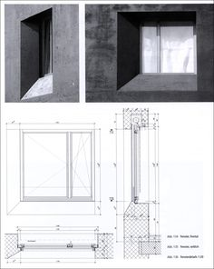 Window construction detail + concrete Architektonisches Potential von Dämmbeton | Patrick Filipaj
