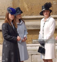 The Countess Of Wessex, Princess Beatrice & Princess Eugenie Attend The Royal Easter Church Service At Windsor. .