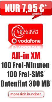 All-in XM ohne Laufzeit mit Vodafone All-in XM ohne Laufzeit Vertrag! bestellen