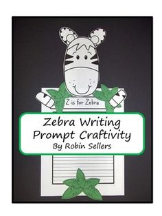Zebra Writing Prompt Craftivity Page Topper
