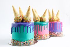 Ice Cream Drip Cake Tutorial - YouTube