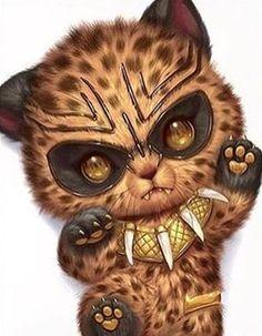Black panther Disney World Tchalla Erik Killmonger Cute Animal Drawings, Kawaii Drawings, Cute Drawings, Drawing Animals, Pet Anime, Anime Animals, Arte Furry, Furry Art, Scary Cat
