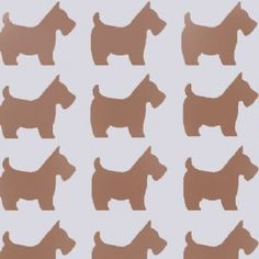 Scottie Dog Silhouette Repeat Pattern Stencil - Ideal Stencils