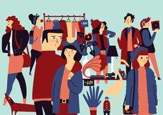 Flea Market Posters by Bea R Vaquero, via Behance