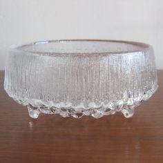 Vintage iittala Finland Ultima Thule Tapio Wirkkala Finnish Art Glass Bowl from SanDiegoVintage etsy