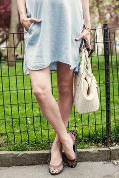 Chambray tunic  flat #Crocs sandals. Find your Crocs adrina flats at www.crocs.com!