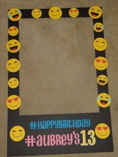 Emoji-Polaroid-Photo-Booth   DIY Emoji Party Ideas for Kids   Easy DIY Birthday Party Ideas for Girls