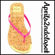 "DV Dolce Vita Flip Flops Flat Sandals NEW WITH TAGS  RETAIL: $45   DV Dolce Vita Flip Flops Flat Sandals  * Thong toe strap   * Printed logo & cork print footbed   * Slim jelly style straps & 0.5"" ballet flat heels   * Metallic gold hardware accents   * Open toe & slip on style.   * True to size   Material: Manmade upper & rubber sole  Color: Pink Punch combo Item:   No Trades ✅ Offers Considered*✅  *Please use the blue 'offer' button to submit an offer Dolce Vita Shoes Sandals"