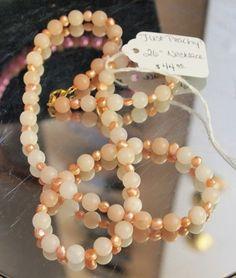"Just Peachy 26""  Necklace | hollyshobbiesncrafts - Jewelry on ArtFire"