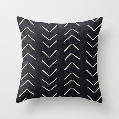 Mud Cloth Big Arrows in Navy Throw Pillow by Becky Bailey - Cover x with pillow insert - Indoor Pillow Navy Pillows, White Throw Pillows, Throw Cushions, Throw Pillow Cases, Designer Throw Pillows, Down Pillows, Decorative Throw Pillows, Pillow Covers, Plush Pillow
