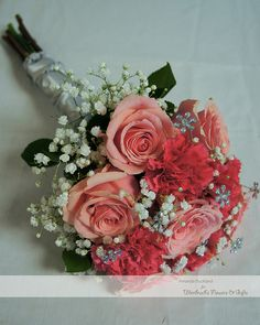 Pink Rose and Carnation Bridesmaid's Bouquet