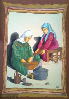 لوحة العجين ... رسم الفنانة الآء حجاز ...